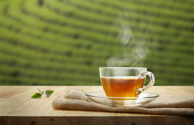 organic tea cup