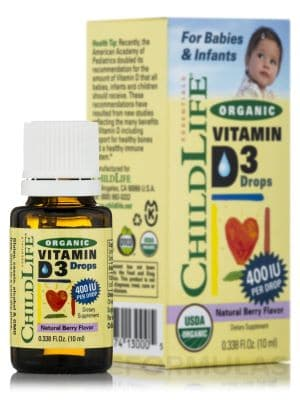 Child Life Organic Liquid D3 Highly Assumable Form of Vitamin D3 - Best Organic Vitamins for Toddlers