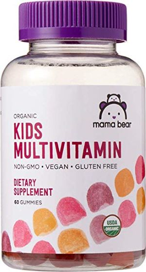 Mama Bear Kiddies Multi-Vitamin Balanced Organic Supplement for Toddlers & Up