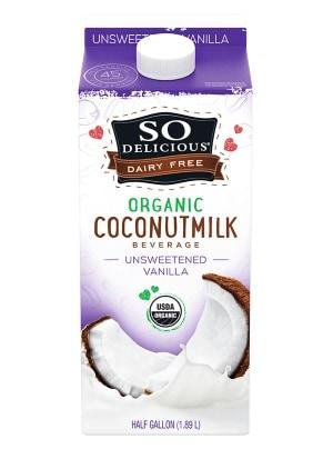 SO Delicious Organic Coconut, Unsweetened Vanilla - All Natural Coconut Milk