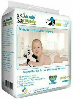 Andy Pandy Eco-Friendly Bamboo Disposable Diapers – Best Natural Diapers for a Snug Fit