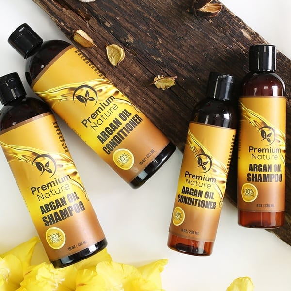 Premium Nature Argan Oil Shampoo and Conditioner – Best Volumizing Hair Shampoo and Conditioner