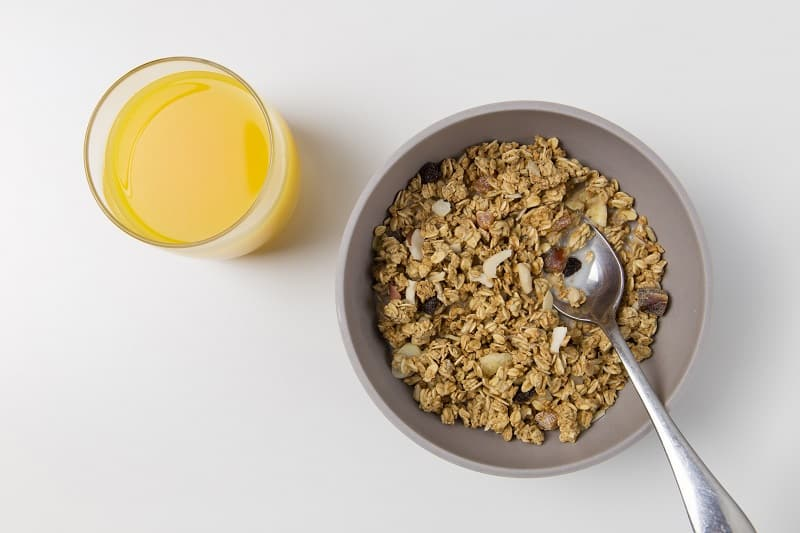 best organic and natural oatmeal with orange juice