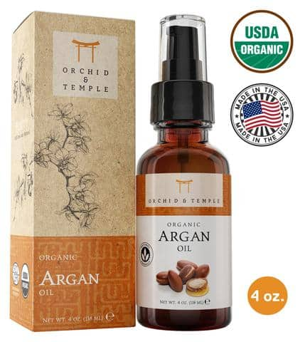 Orchid and Temple USDA Certified Pure Organic Argan Oil – Best for Skin Healing