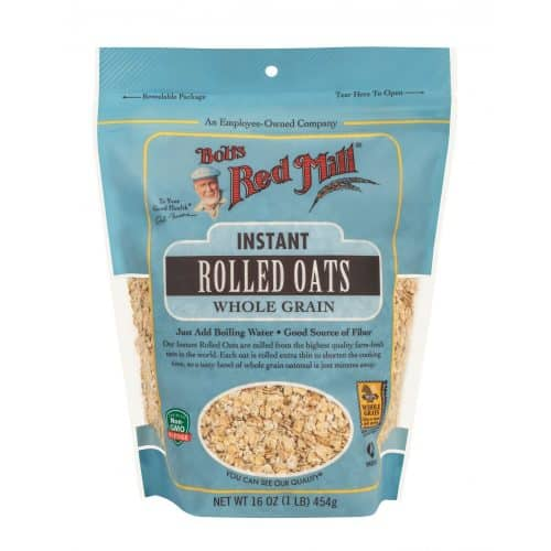 #1 Bobs Red Mill Instant Rolled Oats - Best Whole Grain Oatmeal
